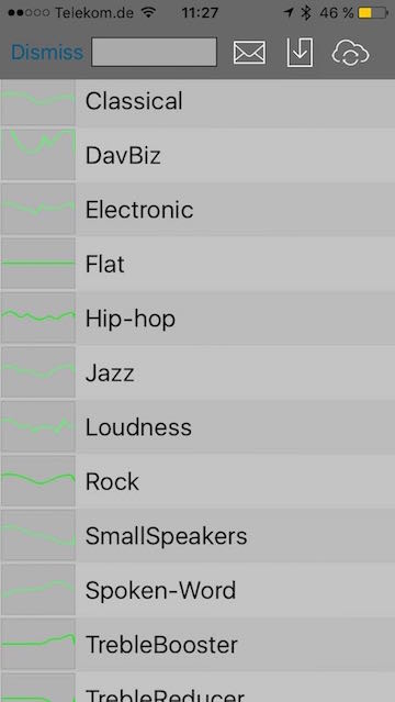 Equalizer von Audioforge - Screenshot Presets